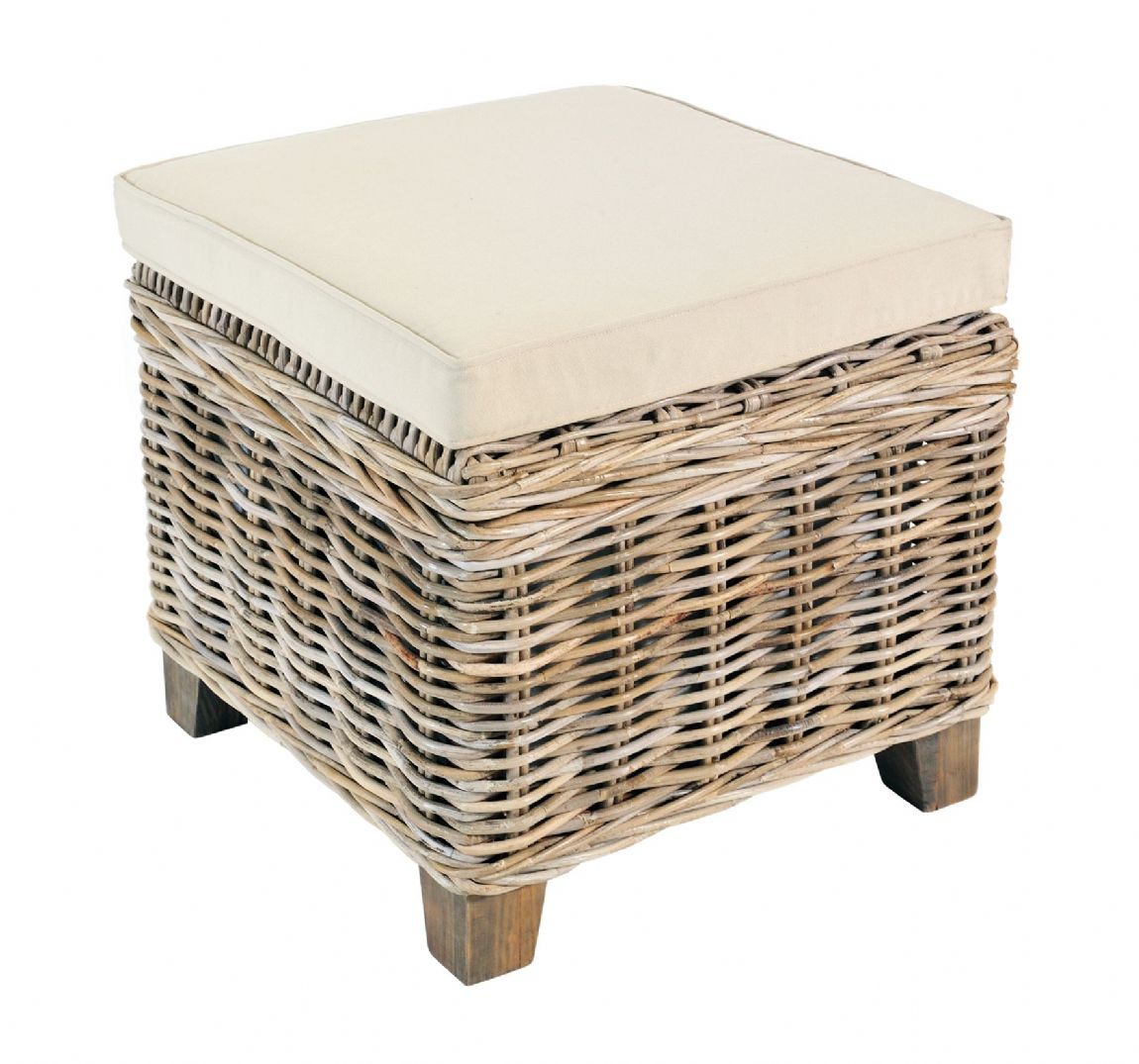 Casares Rattan Storage Stool - Special Order